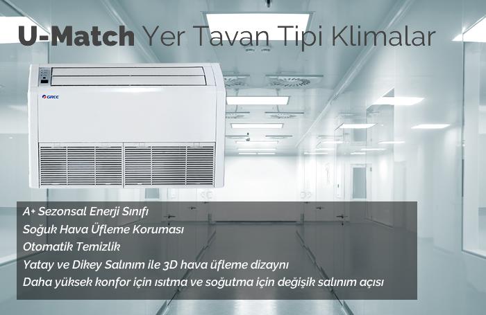 Gree Yer Tavan Tipi Klimalar